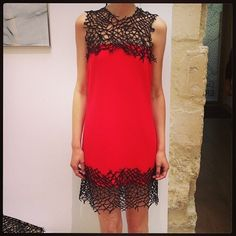 Barbwire lace at Christopher Kane #barneys
