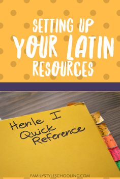 Setting Up Your Latin Resources via @famstyleschool6