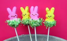 Easter Grass Peeps Pops