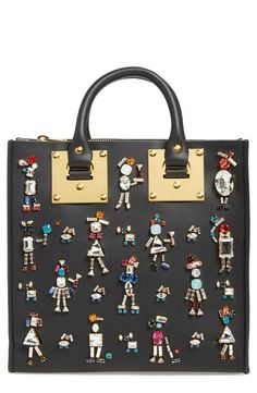 Sophie Hulme 'Albion' Crystal Embellished Leather Tote