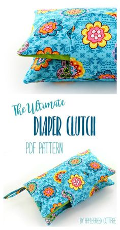​This cute and super convenient DIAPER CLUTCH sewing pattern is the perfect handmade gift every new mom would love to have. Also, makes an excellent baby shower present. (affiliate link) Totally adjustable: one pattern, many different options! And NOW 33% off, just for the release period. Check it out!