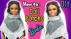 How to Make Poncho For Barbie Doll - DIY Doll Holiday Clothes - Making K...