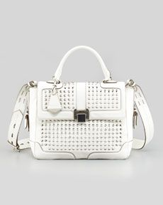 Pre-order the Elle Studded Leather Satchel Bag, only at Cusp.com for the month of August!