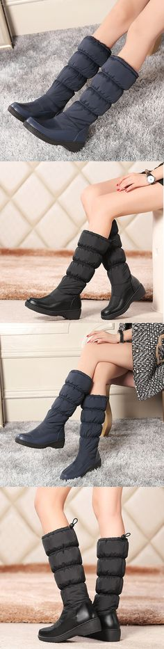 48f405afa32 US 38.71 Wedges Keep Warm Down Cloth Winter Snow Boot Buy Shoes