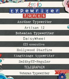 Top 10 Free Typewriter Fonts for Your Layouts by Zakirah Zakaria for Traci Reed Designs