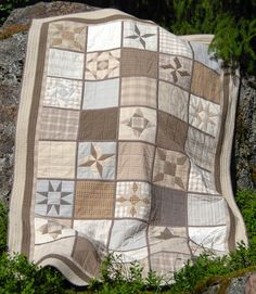 Love everything about this sampler  - the Japanese fabrics, the neutral tones, the blocks. Would need to find a lazy angle ruler