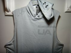Under Armour Mens  Sleeveless Hoodie Loose Heatgear Navy Blue Size Xlarge NWT