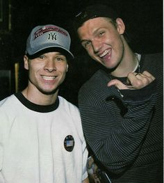 Frick and Frack. A young Brian and a young Nick