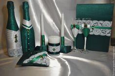 Купить Свадебный набор - болотный, зеленый, изумрудный цвет, изумрудная свадьба, зеленая свадьба