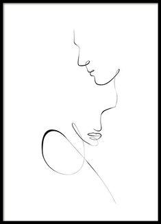 discount codes Line Art Couple Poster Minimalist Drawing, Minimalist Art, Art Abstrait Ligne, Line Art Flowers, Outline Art, Line Art Tattoos, Face Lines, Cute Couple Art, Abstract Line Art