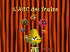 J'aime les fruits - alain le lait (I like fruits) French Teacher, Teaching French, French Poems, Preschool Food, French Alphabet, French Kids, Chore Chart Kids, Core French, French Classroom