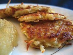 4. Potato latkes are traditionally served during Hanukkah, and naturally vegetarian. | Community Post: 23 Delicious Vegetarian Hanukkah Recipes