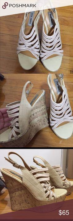 Tan Steve Madden wedges size 8.5 Tan Steve Madden wedges size 8.5 Steve Madden Shoes Wedges