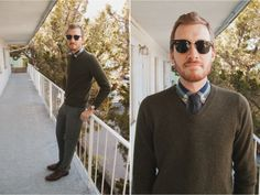 nice sweater/tie combo