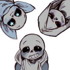 "Oh my god underswap sans looks so happy, and DustTale Sans just looks like ""get this ball of sunshine away"""