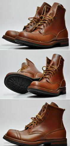 萬事威自有品牌  MANSWAY BOOTS 99635 TOE CAP BOOTS  Made with Vibram 430 Leather Lace www.mansway.com