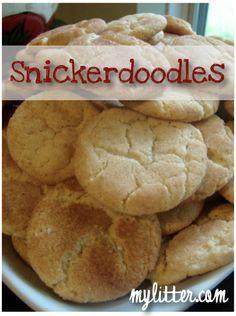 Best Snickerdoodle Cookie Recipe, Mrs. Fields Snickerdoodle Cookie Recipe