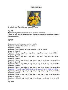Aperçu et lecture en ligne du fichier ourson.pdf - Page 1/5 Amigurumi Tutorial, Amigurumi Patterns, Amigurumi Doll, Amigurumi For Beginners, Knitted Teddy Bear, Lucet, Preemie Babies, Diy Crochet, Hand Knitting