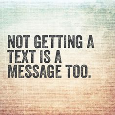 No text is a message