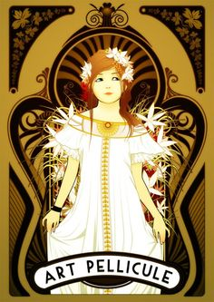 "I absolutely love this image as an example of ""new"" art nouveau style. Not sure of the artist ..."