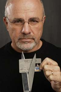 Dave Ramsey, cut your credit card.  My husband and I got a loan to cover all of our credit card debts.  We cut our cards and didn't use a credit card until after our debt was paid.  By that point, we were so use to buying things only if we had the money in the bank that we didn't want to use a credit card.