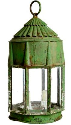 Antique, Vintage, Mid-Century and Modern Furniture - For Sale at Garden Lanterns, Candle Lanterns, Old Fashioned House, Oil Lamps, Inspired Homes, Simple House, Vintage Green, Cool Lighting, Shades Of Green