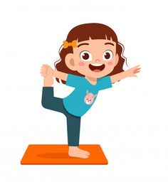 Gym Games For Kids, Yoga For Kids, Exercise For Kids, Activities For Kids, Kids Cartoon Characters, Cartoon Kids, Baby Drawing, Drawing For Kids, E Learning