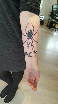 My very own MCR tattoo.<<< oh my god. i've wanted the DD black widow spider tattoo for a long time, and now i 11/10 want it