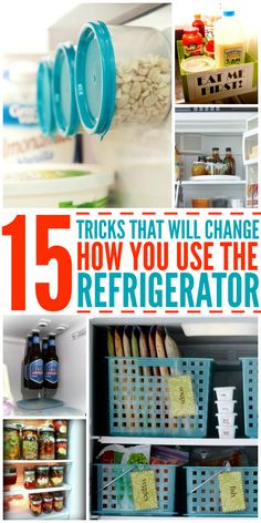 15 Tricks That Will Change the Way You Use Your Fridge Looking for refridgerator organization tips? Kitchen hacks make life so much easier! And what do you use most in your kitchen? Organisation Hacks, Refrigerator Organization, Kitchen Organization, Organize Fridge, Organize Your Life, Organizing Your Home, Organising, Diy Spring, Cleaning