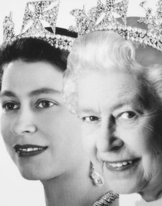 Miss Honoria Glossop:  Queen Elizabeth Then and Now photo edit