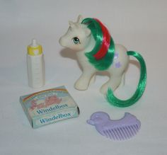 ~*German NBBE Baby Gusty*~ Vintage G1 My Little Pony Mon Petit Poney Acc. Lot