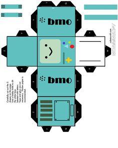 Beemo by JavierPL on DeviantArt Paper Crafts Origami, Diy Origami, Diy Paper, Oragami, Adventure Time Crafts, Adventure Time Parties, Diy Crafts Hacks, Cute Crafts, Paper Doll Template