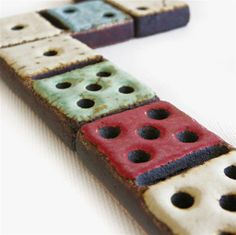Dominoes Ceramic Game Ornament