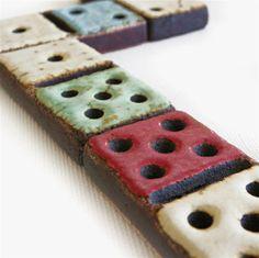 Dominoes Ceramic Game Ornament