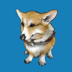 背景青色バージョン Corgi, Drawings, Animals, Corgis, Animales, Animaux, Sketches, Animal, Drawing