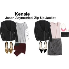 Jason Asymetrical Zip Up Jacket