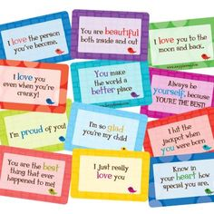 "How many different ways can you say ""I love you"" with Lunchbox Love? Here's a just a few of  the 100's of cards that let your child know how much they mean to you. #lunchbox_love www.sayplease.com"
