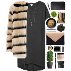 A fashion look from November 2014 featuring Monki dresses, Bonsui coats and Topshop necklaces. Browse and shop related looks.