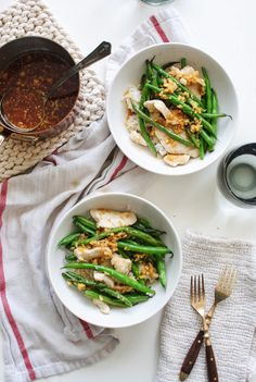 Chicken and Green Beans with a Garlic Ginger Pan Sauce - Bev Cooks