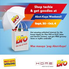 Takbo na sa PLDT SSC & apply for myBro Plan 999 for just + may free groceries or myBro umbrella! Ants In House, Free Groceries, Grocery Items, Wifi Router, Surfing, How To Apply, Personal Care, How To Plan, Self Care