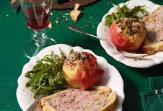 Enten-Pastete mit Braterdäpfeln und Rucolasalat