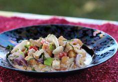 Let's get spicy: mushrooms, tofu and vegetables in coconut milk