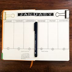 January journal layout.    #Planner #Agenda #Design #Bujo #Stationery #journal #journallayout #themindfulplanner #january #bulletjournal