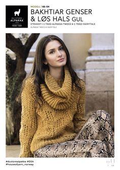 Bakhtiar Genser & Løs Hals Gul - Køb billigt her Jumpers, Hats For Women, Women's Accessories, Tweed, Knitted Hats, Turtle Neck, Knitting, Sweaters, Winter Coats
