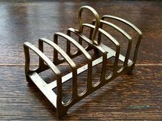 Vintage English Simple Metal Toast Rack by EnglishShop on Etsy, $29.00