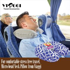 The U- Shaped Microbead Neck Pillows at Viaggi Travel World are specially crafted to provide maximum comfort & support to your neck while you travel long distances by flight or train. Order now -www.viaggitravelworld.com