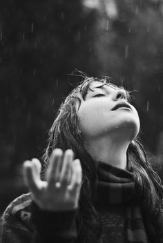 Rain on my face, bouncing on my eyes. Is it a gentle, summer rain the kind that warms you through? Or is it icy, winter rain that chills you to the bone. Rain can symbolize danger, power and uncertainty or hope, rebrith and a new beginning.