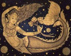 I love mermaids and I love Thai food... So here's a Thai mermaid.