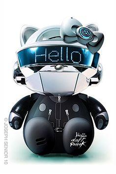 """Daft Punk, Kill Bill, Kiss y más en la serie: """"Hello Kitty Model Kit"""""""