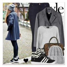 """""""Sneakers♥"""" by elske88 ❤ liked on Polyvore featuring Mercedes-Benz, Topshop, KISS by Fiona Bennett, adidas and BloggerStyle"""